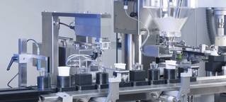 Filling and Closing Machine OPTIMA Moduline for liquid, pasty and powdery products, product detail 3