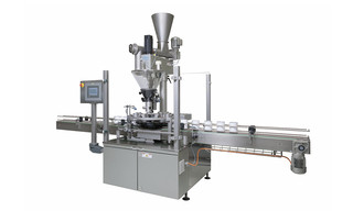 Filling and Closing Machine OPTIMA FC2 for dry products in solid containers