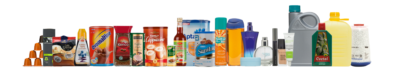 Product fields Consumer - Food, Cosmetics, Chemicals, Portion packages, Filtration