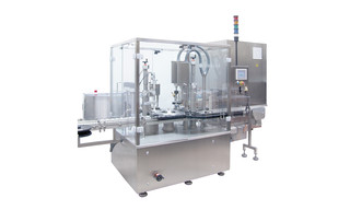 Filling and Closing Machine OPTIMA Flexofill for liquid products