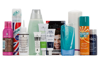 Hair care: Colorants, bleaching powders, shampoos, conditioners, hair gels, liquids
