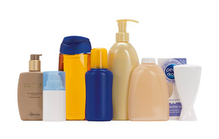 Body care in bottles: Creams, lotions, gels, dental care products, deodorants, bath salts