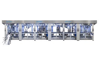Filling and Closing Machine InlineCan OPTIMA CFS - Inline prodcution of cans / containers during filling and closing process