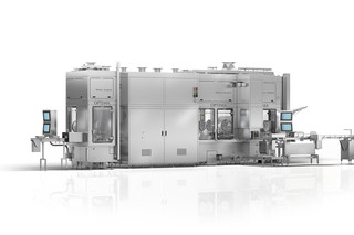 Filling Machine SV125 from OPTIMA pharma with METALL+PLASTIC E-beam Tunnel